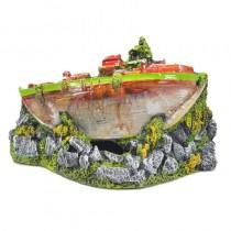 Enfeite resina aquaria barco de guerra b -10