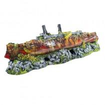 Enfeite resina aquaria barco cruzeiro b -14