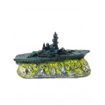 Enfeite resina aquaria barco fragata mini b -41