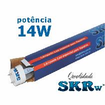 Lampada de led skrw tubol.t8 14w 90cm azul