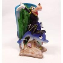 Enfeite resina penn plax mmcr6 goofy and dolphin